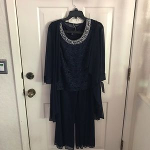 NWT R&M Richards Sparkling Navy Blue 3piece outfit